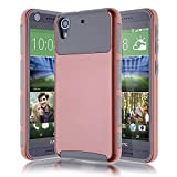 HTC Desire 626 / 626s Case-Kmall HTC 626 2in1 Hybrid Heavy Duty Case,Impact Resistant Shock-Absorption Case,Dual Layer Armor Full-Body Protective Case for HTC Desire 626/626s/626W(Rose Gold/Gray)