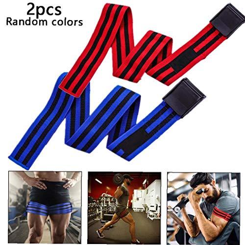 Deanyi 1 Paar Occlusion Training Band Beine Ausbildung Blood Flow Restriction Bands für Gewichtheber-Trainings-zufällige Farbe