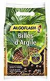 ALGOFLASH Billes d'Argile, Limite l'évaporation d'eau, ATBILL6N, Marron, 6 L