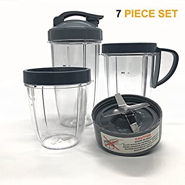 Cup and Blade Set for NutriBullet Replacement High Speed Blender Mixer System (7)