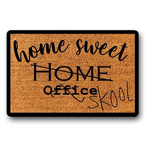 Home Sweet Home Office School Welcome Mat,Home School Doormat,Quarantine Decor,Outdoor Door Mat ,Front Door Mat ,Covid Doormat 18' x 30'