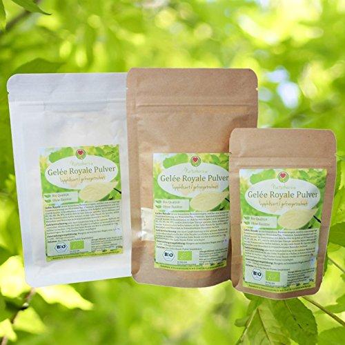 Bio Gelée Royale Pulver | 100% lyophilisiertes Gelee in bewährter Naturherz-Qualität vom Bio Imker (100g)