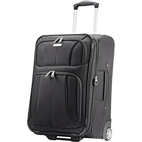 Samsonite Aspire Xlite Softside Expandable Luggage with Spinner Wheels, Black, Carry-On 21.5-Inch