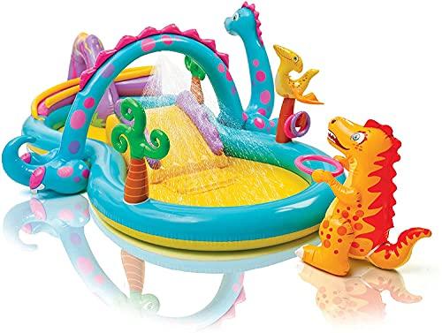 LVYE1 MRMF Piscina para Bebés con Tobogán De Agua, 119'X 90' X 44', Centro De Juegos De Piscina Inflable, Piscina para Niños para Patio Trasero, Jardín, para Mayores De 2 Años