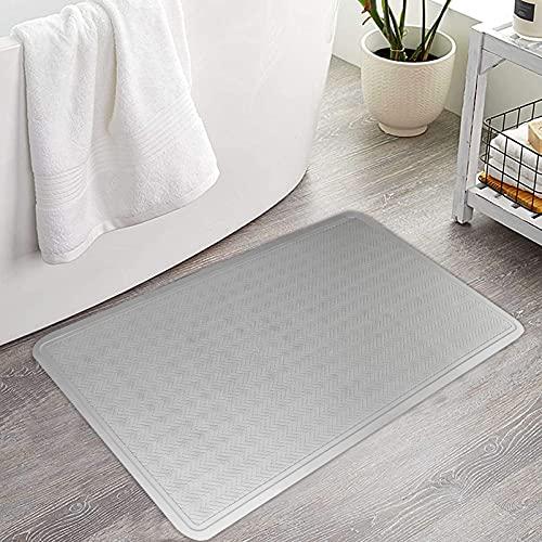 Badmat, antislip, rubber, vuilvangmat, badmat, grijs, 40 x 70 cm