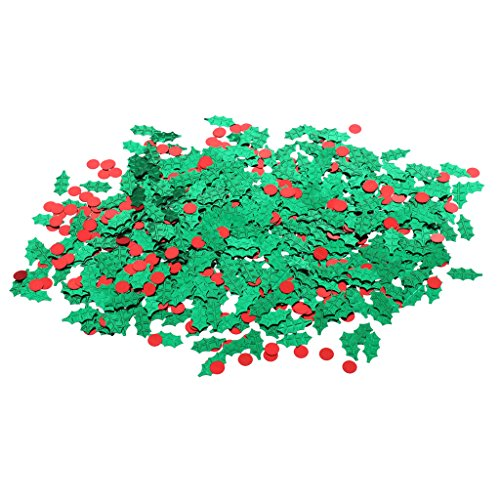 harayaa Festival de Navidad Holly Berry Confetti Sprinkles Home Party Decoración 15g