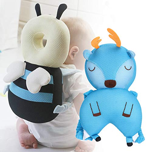 wosumeCoussin de Protection de la tête, Coussin de Protection de la tête Anti-Chute Respirant pour bébé(Deer)