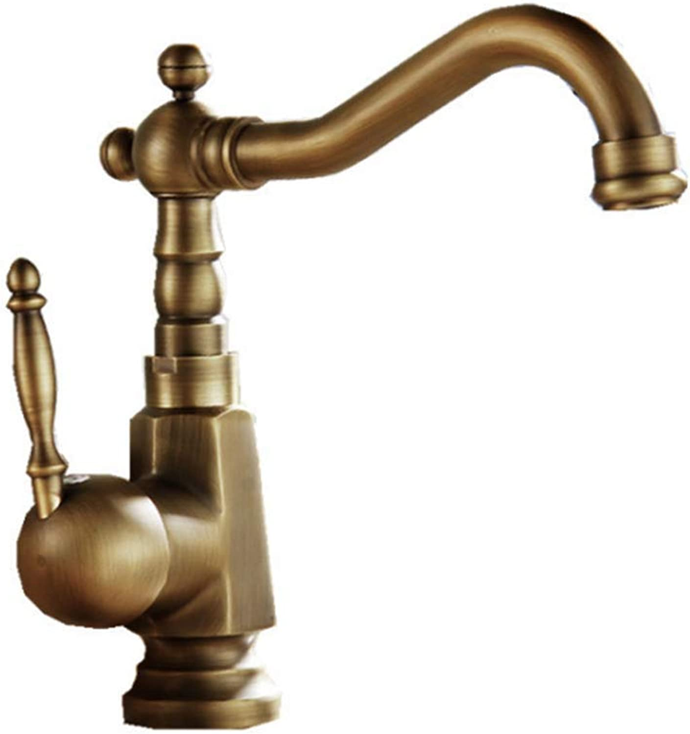Yuhaijie Basin Tap Hot and Cold Retro Full Copper European Sink Mixer Tap