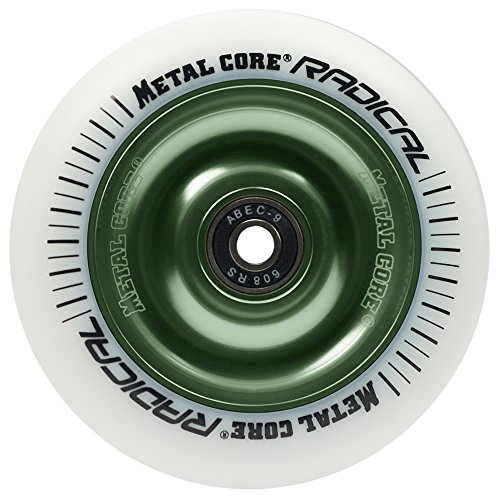 Metal Core Radical Ruedas Scooter, Blanco/Verde, Talla Única