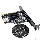 Cablecc USB 3.1 Front Panel Socket & USB 2.0 to PCI-E Express Card Adapter for Motherboard