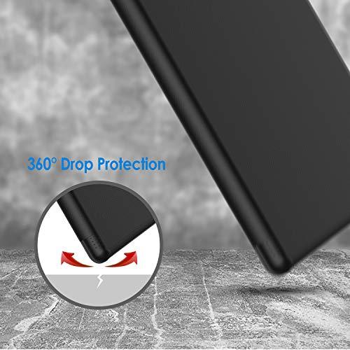 JETech Hülle Kompatibel mit Amazon Fire 7 Tablette (nur für die 9. Generation 2019), Intelligent Schutzhülle mit Auto Schlafen/Wachen, Schwarz
