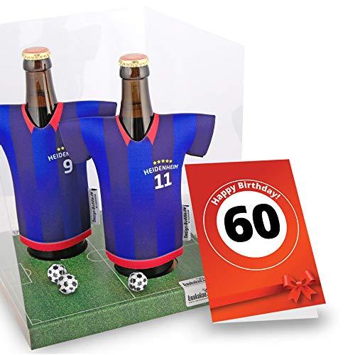 60. Geburtstag   Der Trikotkühler   Das Männergeschenk für HEIDENHEIM-Fans   Langlebige Geschenkidee Ehe-Mann Fre& Vater Geburtstag   Bier-Flaschenkühler by Ligakakao