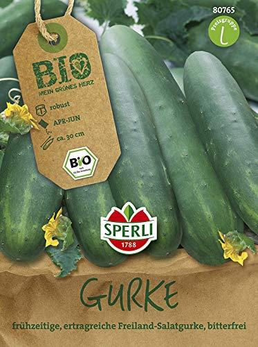 Sperli Gemüsesamen Salatgurke Sonja Bio-Saatgut, grün