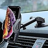 R&Lstore Soporte para teléfono móvil para coche, salpicadero, parabrisas o coche, rotación de 360 °, brazo extensible universal para iPhone, Samsung, Xiaomi, Huawei