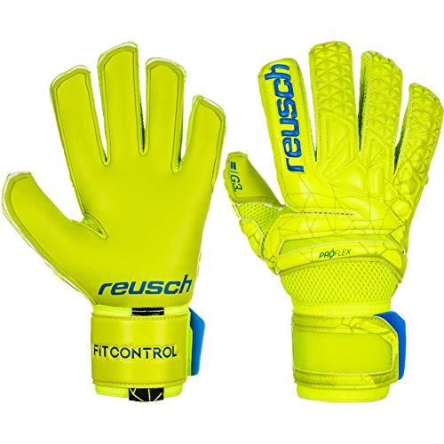 Reusch Guanti da portiere da uomo, Fit Control Pro G3 Duo, colore: Lime/Safety Yellow, 9