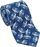 Not applicable Corbata de seda DC3 Airplane para hombre en azul, corbata de seda suave para...