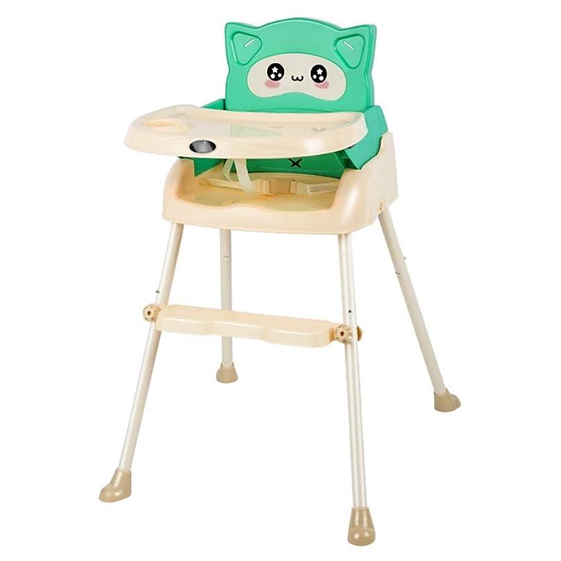 杖嫌な今まで子供用ダイニングチェア折りたたみ式多機能ダイニングテーブルとチェアベビーハイチェア高さ調節可能ポータブル赤ちゃん用ダイニングテーブルとチェア57x63x87cm (色 : A)