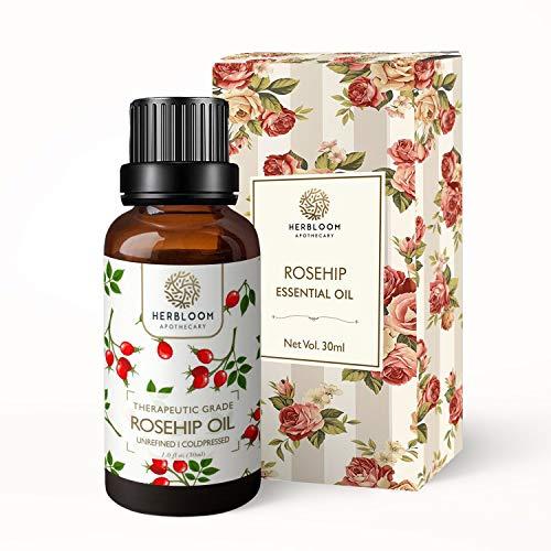 Puro olio essenziale di rosa canina, rivitalizza pelle e capelli, naturale, spremuto a freddo e non raffinato - Rosa canina, 30 ml