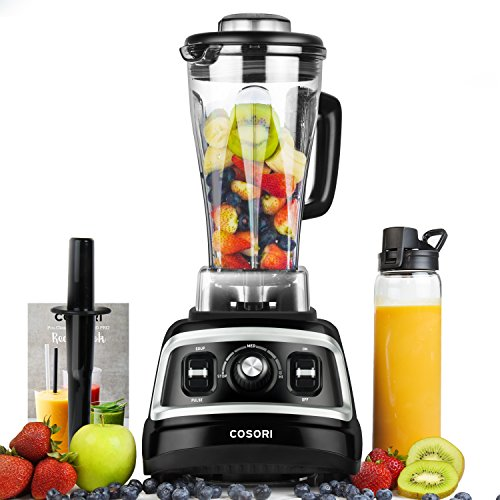 COSORI Blender 1500W for Shakes and Smoothies, Professional Heavy Duty Smoothie Maker With Variable Speeds, 70oz BPA-Free Pitcher & 27oz Bottle, Recipe Book Included, UL&FDA Approved
