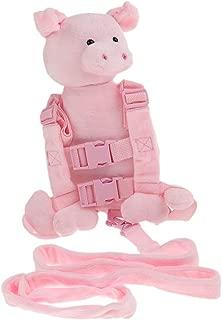 MagiDeal 2 in 1 Animal Toddler Safety Harness Backpack Children's Walking Leash Strap - Pink Pig, as described