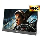 4K Portable Moniteur 15,6 Pouces FHD 3840 x 2160 IPS avec entrée HDMI, Haut-Parleur intégré,...