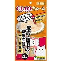 【セット販売】チャオ ちゅ~る 皮膚・被毛の健康に配慮 とりささみ (14g×4本)×6コ