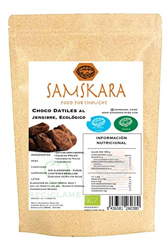 Chocolade dadels gember | Biologische BIO | Dates Choco Ginger | Samskara food for thought (1kg)