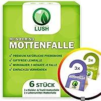 GreenLush - Trampa para polillas de la Ropa y de los Alimentos contra polillas de la Ropa y polillas de los Alimentos, 6 Unidades, sin polillas, para medicación de plagas