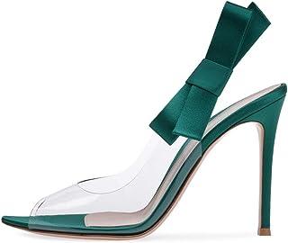 Bfg Boots Le donne di Pompe Sandali estate più il formato 35-46 Tacchi alti cristallo scarpe a punta Shallow sexy traspare...