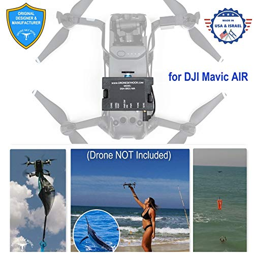 Professional Release and Drop Device for DJI Mavic AIR 1, for Drone Fishing, Bait Release, Payload Delivery, Search & Rescue, Fun Activities. - Free Drop Parachute Included -