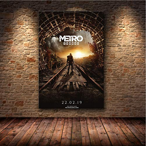 lubenwei Metro Exodus Game Poster Artwork Canvas Painting Wall Art Nordic Modern Home Decoration Poster For Living Room Print Pictures G-1679 50x70cm No Frame
