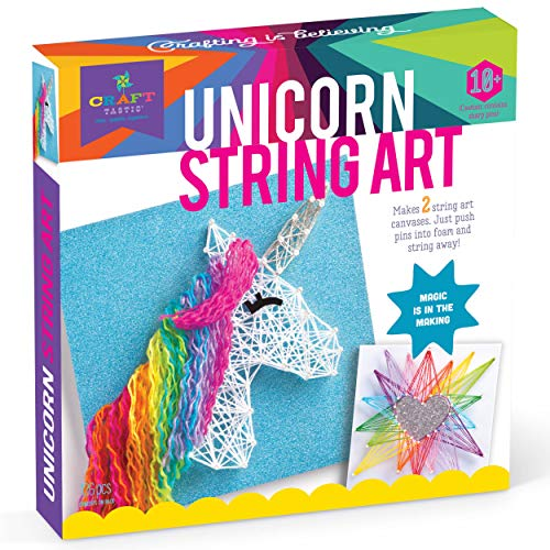 Crafttastic DIY String Art – AwardWinning Craft Kit for Kids – Everything Included for 2 Fun Arts amp Crafts Projects – Unicorn Series