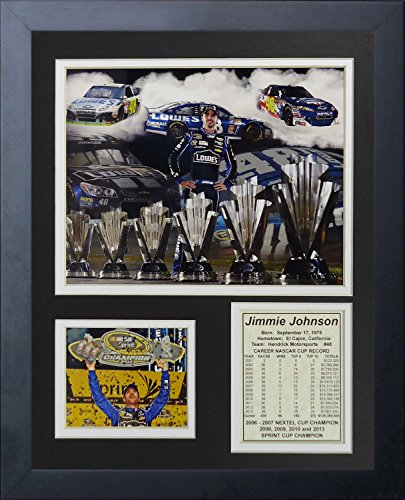 Jimmie Johnson NASCAR Auto Racing Framed 8x10 Photograph Collage