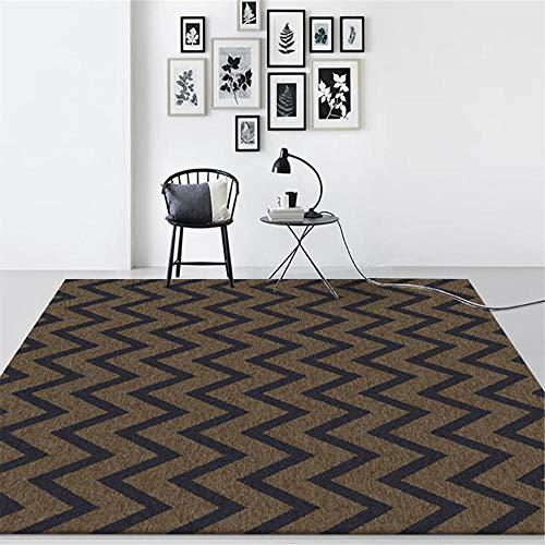 Monedero marrón oscuro de la alfombra geométrica de la alfombra de la alfombra suave, para la sala de estar de la sala de la sala de la sala de la cabina de la cabina de la cabina de la cabina de la