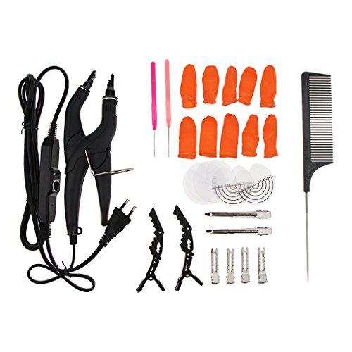 D DOLITY 27pcs/set Professionnelle Pince à Chaud Kit pour Allongement Extensions de Cheveux Coiffure Coiffeurs Outil de Fusion kit