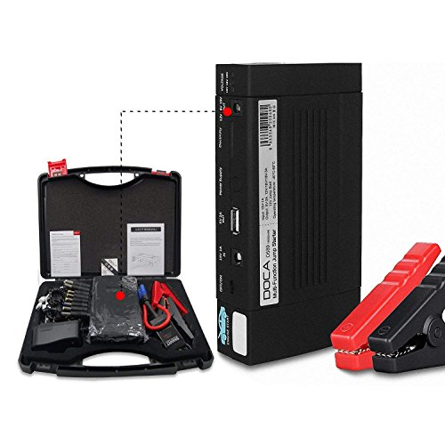 Fantastic Deal! 1100A Peak Portable Car Jump Starter, 15000mAh Car Battery Jumper Starter, Auto Batt...