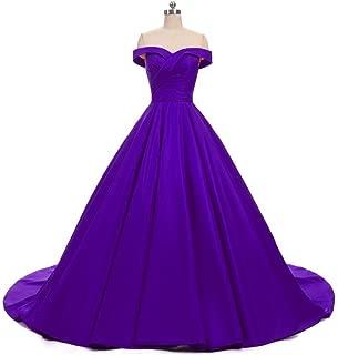 Women's Off Shoulder A Line Split Prom Evening Dresses Long Formal Gown P001