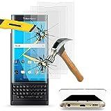 VComp-Shop® 3x Hochwertige gehärtete Panzerglasfolie mit r&er Wölbung am Rand für BlackBerry Priv - TRANSPARENT