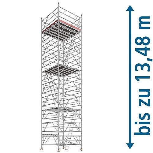 Layher Fahrgerüst Super Klax Arbeitshöhe 13,95 m Plattformgröße 2,8x2,8 m, Arbeitshöhe 8,75 m