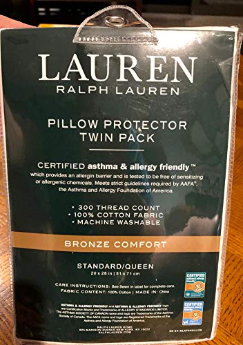 Ralph Lauren Pillow Protectors 2-Pack, Certified Asthma and...