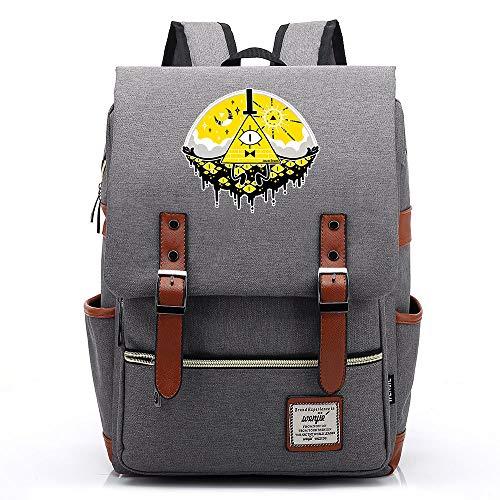 Borsa da scuola Anime Gravity Falls, zaino da college per adolescenti, zaino da escursionismo da viaggio casual, adatto a tablet da 15'per laptop da 14 pollici. Colore-15.