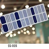 ZRBH ネイルアート粘着ステッカーDIYマニキュアスノーフレークシャイニースパンコールマニキュアはラップアクセサリー卸売ストリップ22tips (Color : SS035)