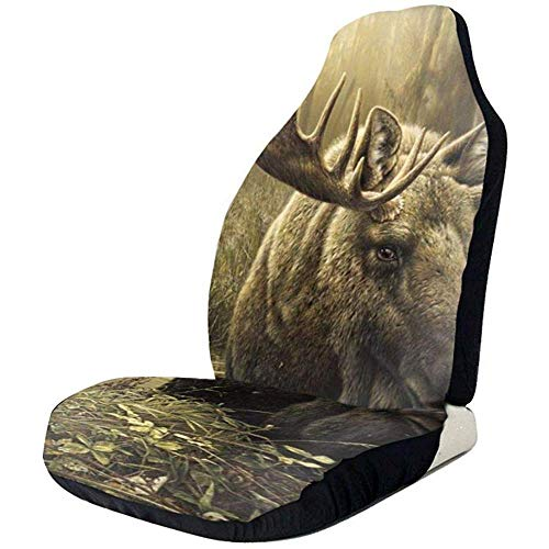 Joe-shop Moose Schilderij Autostoelhoezen - Sideless Chic Style - Zacht & Flexibel Polyester