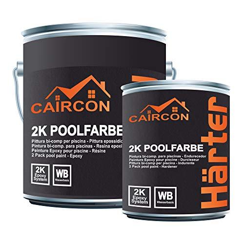 2K Epoxidharz Schwimmbadfarbe Poolfarbe Schwimmbeckenfarbe - Weiss 2,5kg