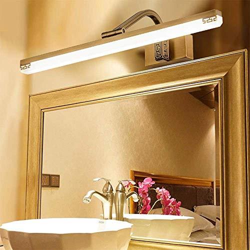HYY-YY Inicio Espejo de baño Espejo faros de LED de la lámpara 111-240V baño Luces de cobre y luces de pared de acrílico de Maquillaje iluminación cálida Bombilla incluido, el espejo del faro, Negro C