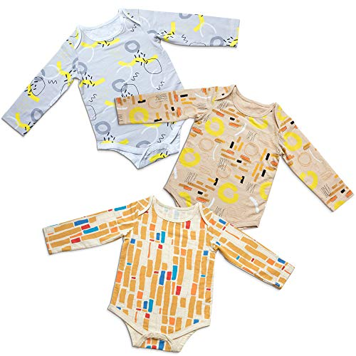 SIMMA Body para Recién Nacidos, para Niños o Niñas, Pack De 3 Ropa De Bambú Orgánico En Una Caja De Regalo, Unisex (0-3 Meses)