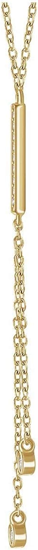 14k Yellow Gold 1/10 CTW Diamond Bar Y 16-18
