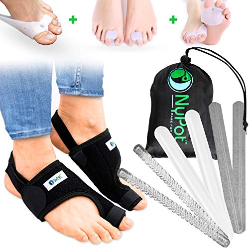 NYPOT Premium Bunion Corrector - Bunion Relief Big Toe Support, Orthopedic Bunion Splint, Toe Straightener for Women and Men, Bunion Brace, Hallux Valgus Corrector, Bunions Pain Relief