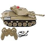 Dilwe 1/16 Tanque RC, 2.4Ghz Modelo de Tanque de Vehículo de Control Remoto Toy Fort 270 Grados...