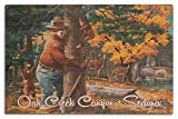 Lantern Press Sedona Arizona - Smokey Bear Umarmungsbaum - Oak Creek Canyon 10 x 15 Wood Sign Multi